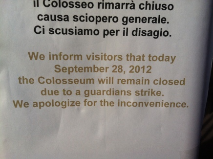 Colosseum on Strike!