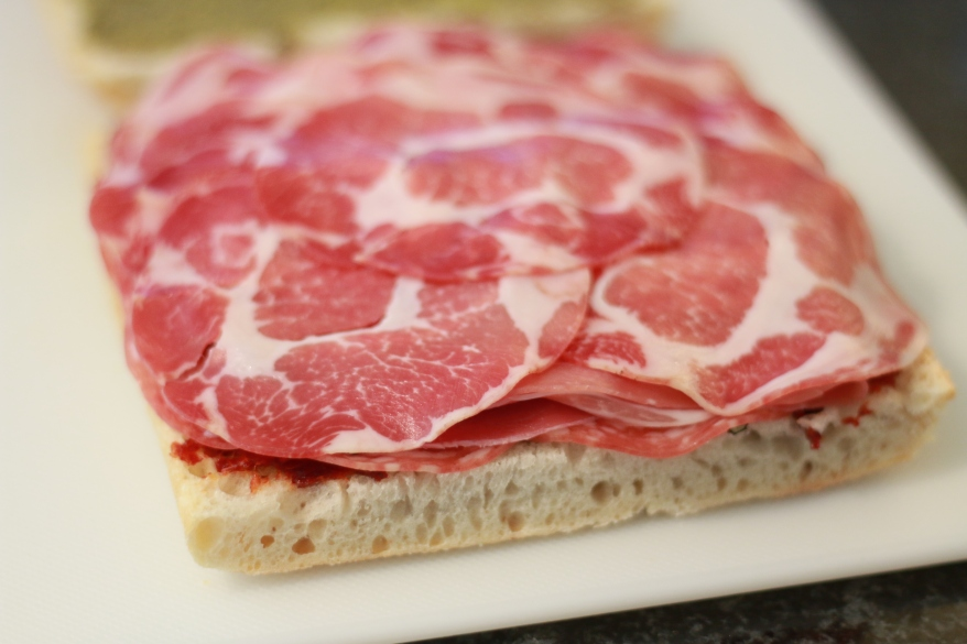 Pressed Italian Sandwich Prep