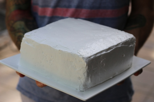 Perfect White Cake with Marshmallow Frosting