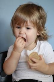 Viona Eating Cinnamon Nut Cookies