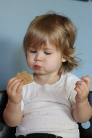 Viona Eating Cinnamon Nut Cookies