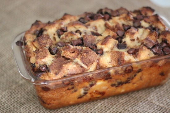 Cinnamon and Chocolate Bread Pudding