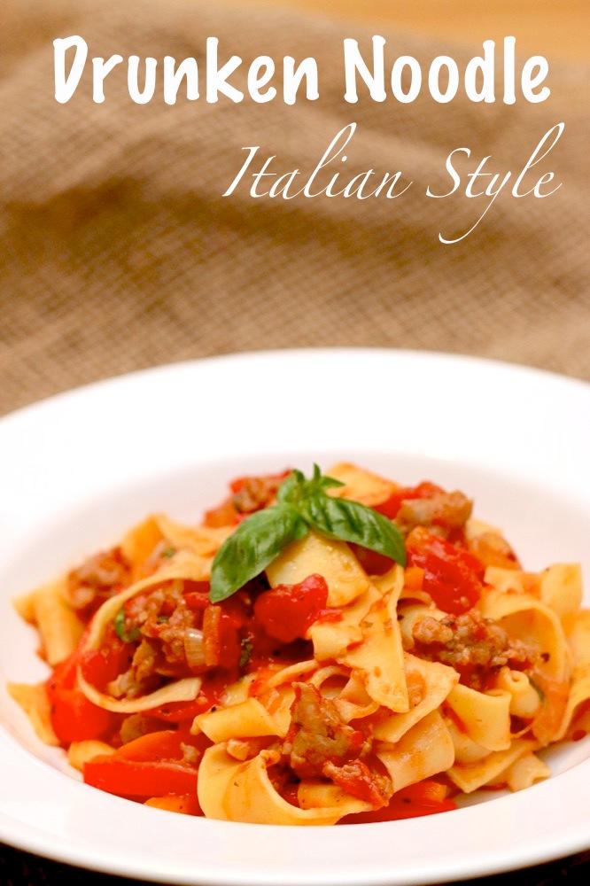 Drunken Noodle Italian Style