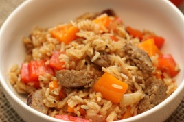 One Pot Sausage and Rice Skillet