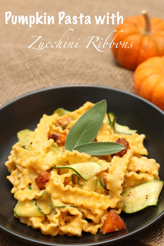 Pumpkin Pasta with Zucchini Ribbons