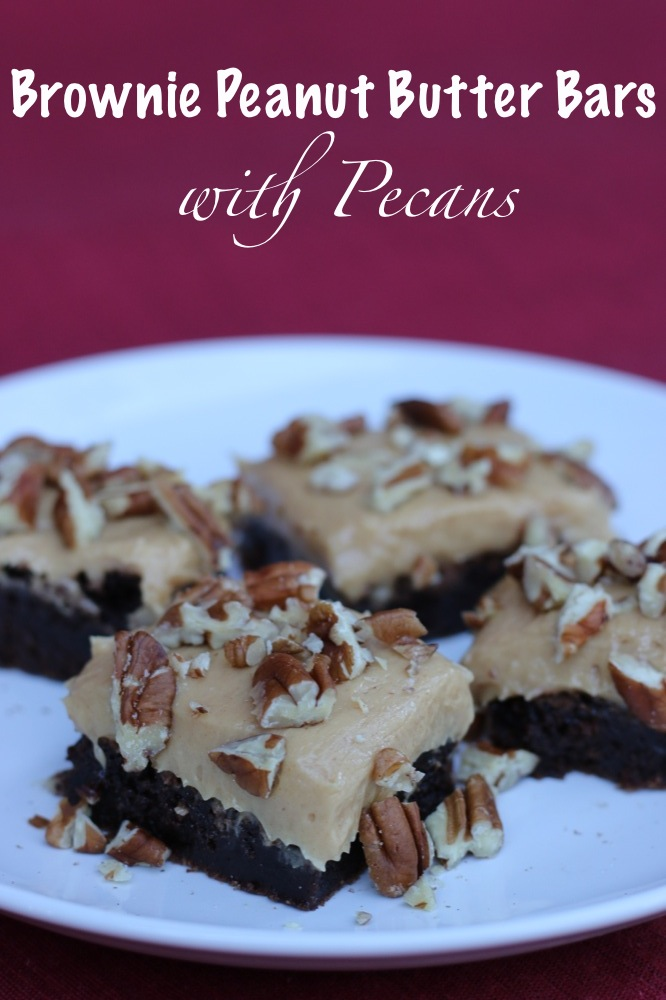 Brownie Peanut Butter Bars with Pecans