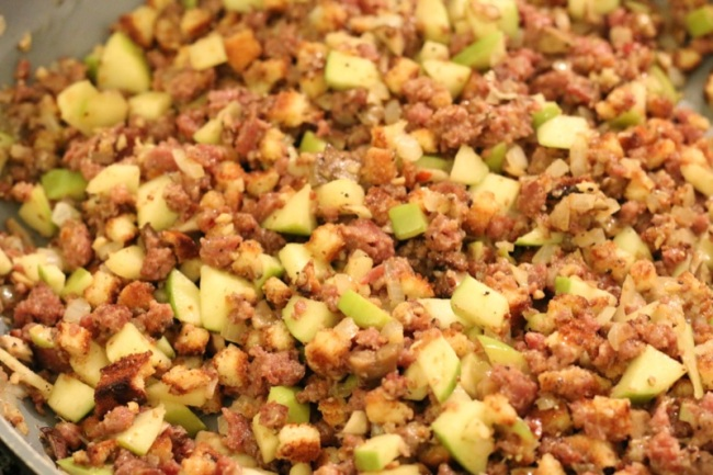 Sausage and Apple Stuffed Kabocha Squash