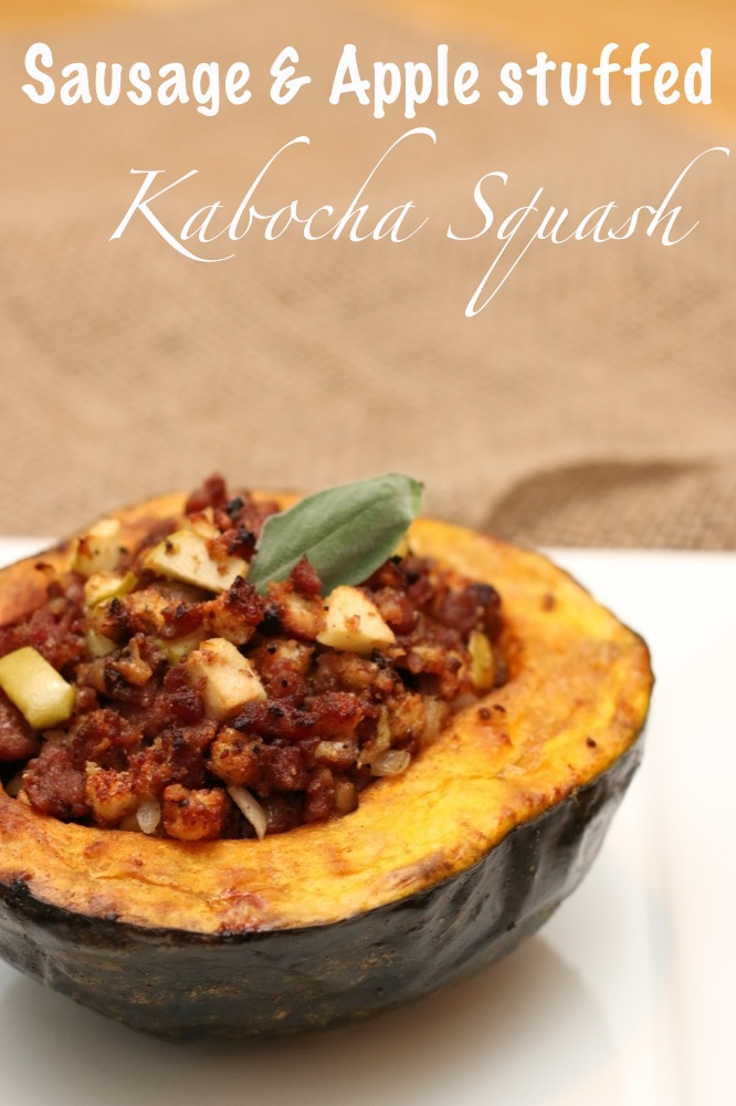 Sausage and Apple Stuffed Kabocha Squash
