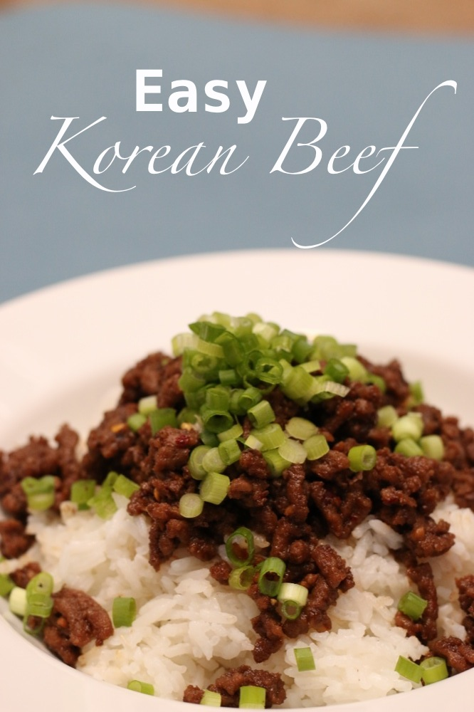 Easy Korean Beef Dinner