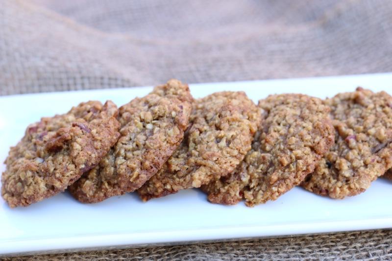 Persimmon Oatmeal Pecan Cookies